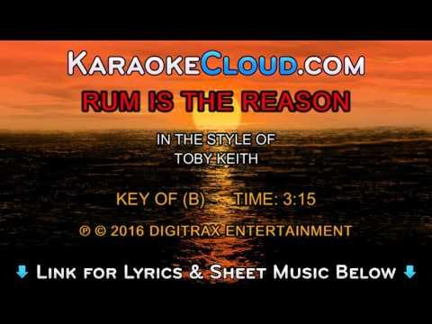 Toby Keith - Rum Is The Reason (Backing Track)