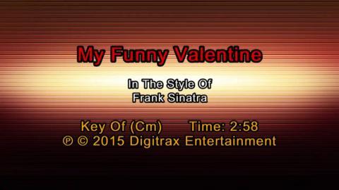 Frank Sinatra - My Funny Valentine (Backing Track)