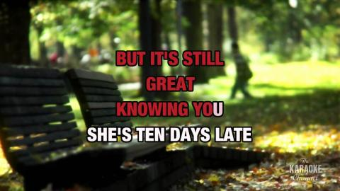 10 Days Late in the style of Third Eye Blind | Karaoke with Lyrics