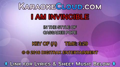 Cassadee Pope - I Am Invincible (Backing Track)