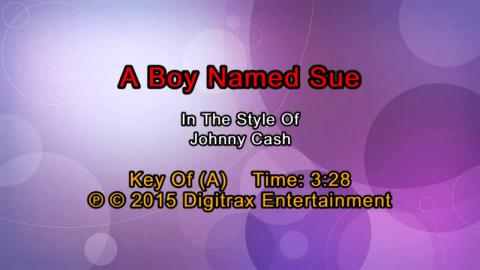 Johnny Cash - A Boy Named Sue (Backing Track)
