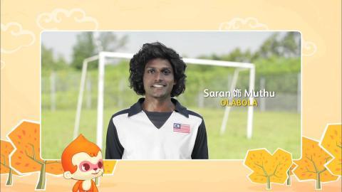 【MY Astro 猴爷大盛年】新年贺语 - Saran (电影Ola Bola饰演Muthu)