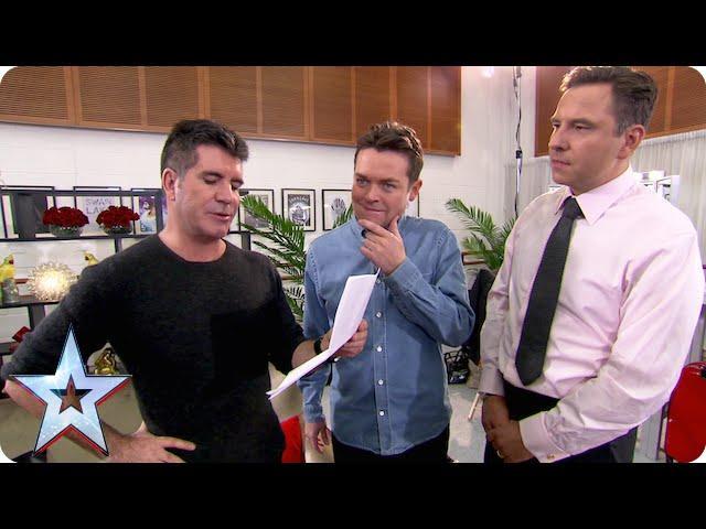 Difficult, moi! Simon discovers David's rider | Britain's Got Talent 2015