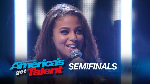 """Samantha Johnson: Singer Covers """"Earned It"""" by The Weeknd - America's Got Talent 2015"""
