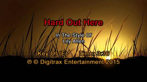 Lily Allen - Hard Out Here (Backing Track)
