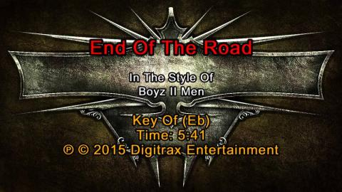 Boyz II Men - End Of The Road (Backing Track)