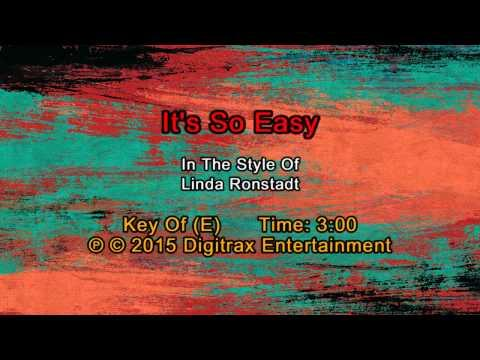 Linda Ronstadt - It's So Easy  (Backing Track)