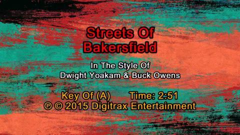 Dwight Yoakam & Buck Owens - Streets Of Bakersfield (Backing Track)