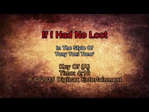 Tony Toni Tone' - If I Had No Loot (Backing Track)