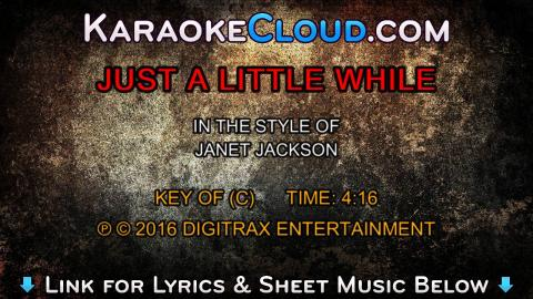 Janet Jackson - Just A Little While  (Backing Track)