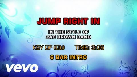 Zac Brown Band - Jump Right In (Karaoke)