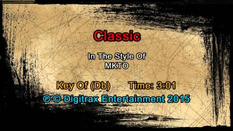 MKTO - Classic (Backing Track)