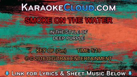 Deep Purple - Smoke On The Water (Backing Track)