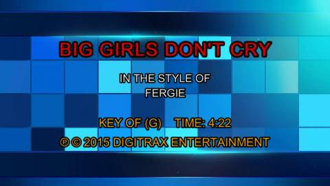 Fergie - Big Girls Don't Cry (Backing Track)