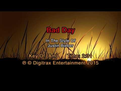 Justin Bieber - Bad Day (Backing Track)
