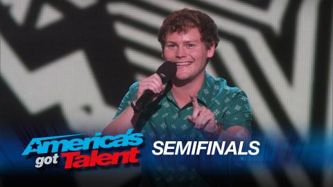 Drew Lynch: Stuttering Stand-Up Comic Jokes About Phone Calls - America's Got Talent 2015