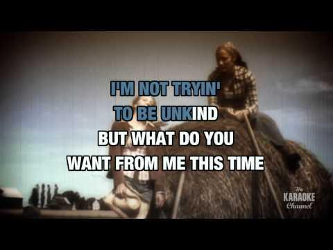 What Do You Want From Me This Time in the style of Foster & Lloyd | Karaoke with Lyrics