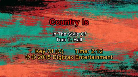 Tom T. Hall - Country Is (Backing Track)