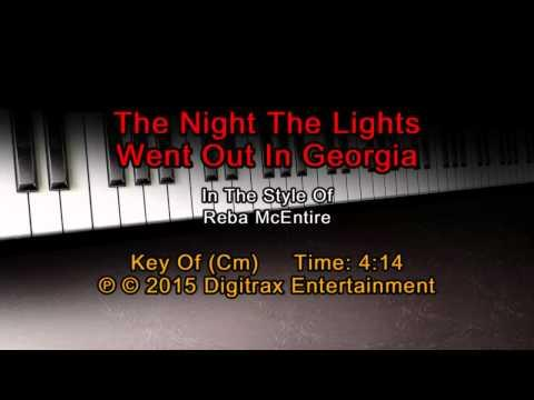Reba McEntire - The Night The Lights Went Out In Georgia (Backing Track)