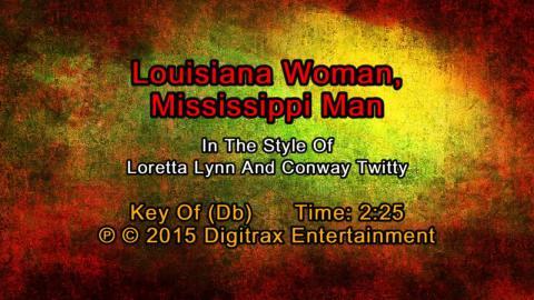 Loretta Lynn & Conway Twitty - Louisiana Woman, Mississippi Man (Backing Track)