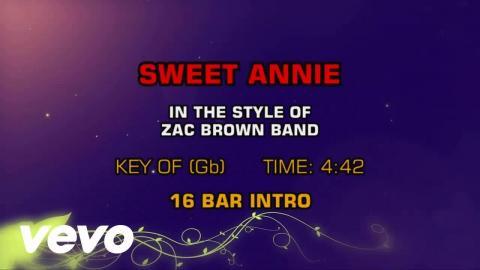 Zac Brown Band - Sweet Annie (Karaoke)