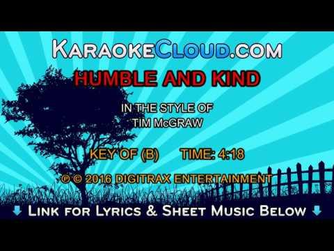 Tim McGraw - Humble And Kind (Backing Track)
