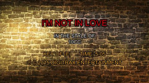 10cc - I'm Not In Love (Backing Track)