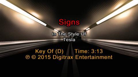 Tesla - Signs (Backing Track)