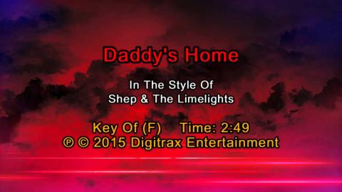 Shep & The Limelites - Daddy's Home  (Backing Track)