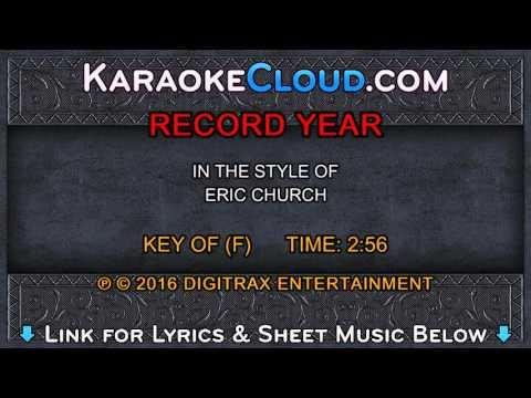 Eric Church - Record Year (Backing Track)