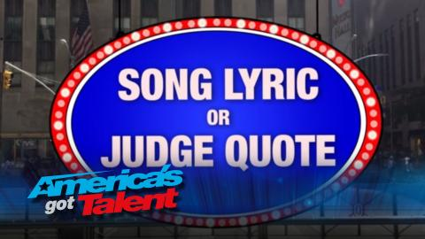 """Howie Mandel Plays """"Song Lyric or Judge Quote"""" - America's Got Talent 2015 (Extra)"""