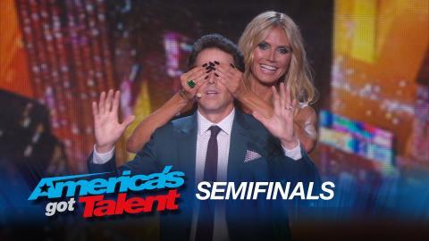 Oz Pearlman: Mentalist Performs Magic on Heidi Klum and Howard Stern - America's Got Talent 2015