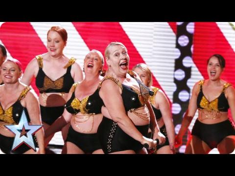 Burlesque Performers Ruby Red let it all hang out!  | Semi-Final 1 | Britain's Got Talent 2015