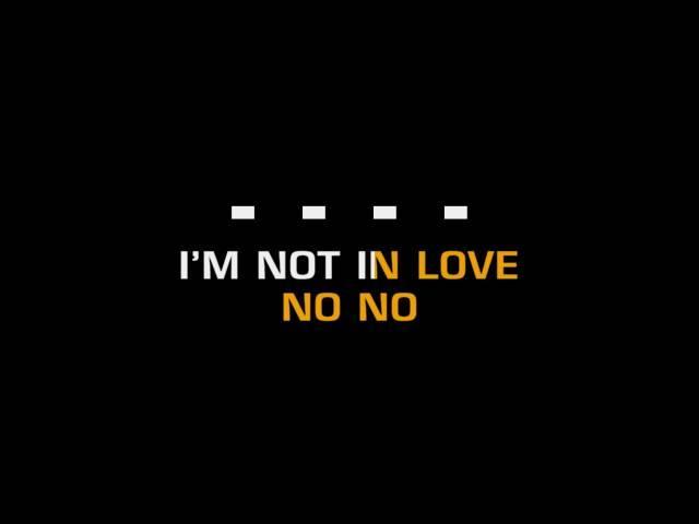 10cc - I'm Not In Love (Karaoke) ft. 10cc