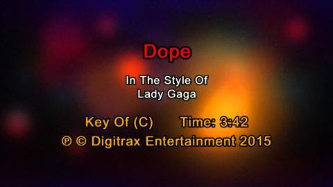 Lady Gaga - Dope  (Backing Track)