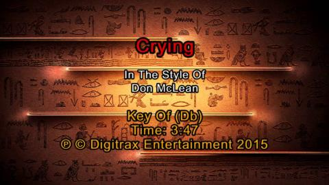 Don McLean - Crying (Backing Track)