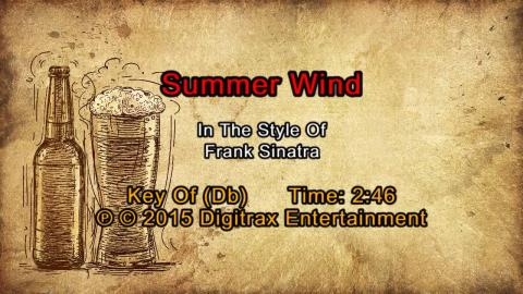 Frank Sinatra - Summer Wind (Backing Track)