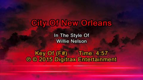 Willie Nelson - City Of New Orleans (Backing Track)