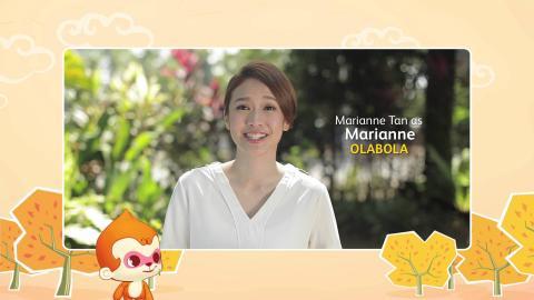 【MY Astro 猴爷大盛年】新年贺语 - Marianne Tan (电影Ola Bola饰演Marianne)