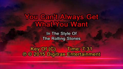The Rolling Stones - You Can't Always Get What You Want (Backing Track)