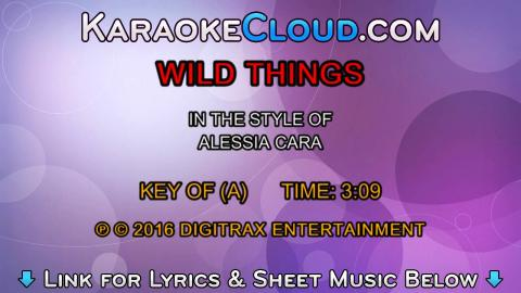 Alessia Cara - Wild Things (Backing Track)