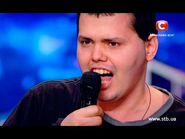 Bad singer tries to confess his love to the judge on Ukraine's got talent