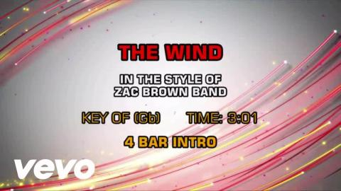 Zac Brown Band - The Wind (Karaoke)