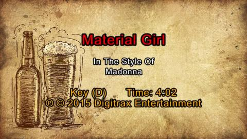 Madonna - Material Girl (Backing Track)