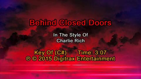Charlie Rich - Behind Closed Doors (Backing Track)