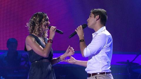 Karim and Jasmin Sing A Whole New World   The Voice Australia 2015