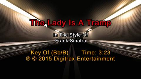 Frank Sinatra - The Lady Is A Tramp (Backing Track)