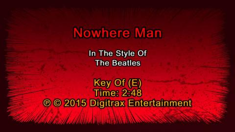 The Beatles - Nowhere Man  (Backing Track)
