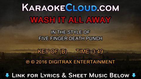 Five Finger Death Punch - Wash It All Away (Backing Track)
