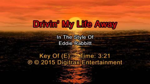 Eddie Rabbitt - Drivin' My Life Away (Backing Track)